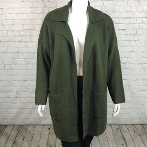 Style & Co Olive Green Open Front Cardigan Size 3X